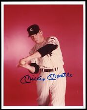 Mickey Mantle 1951 Rookie Color Photo AUTO Mint Signature PSA/DNA