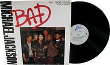 "Michael Jackson BAD Disque 33t 12"" LP Maxi Single Vinyl Record Disc 1987"