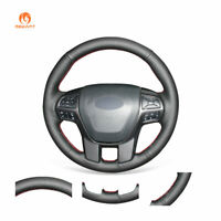 Hand Stitched Black PU Leather Steering Wheel Cover for Ford Ranger 2016-2020