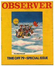 Observer Magazine 7 January 1979 Time Off-79 Holiday Special Issue