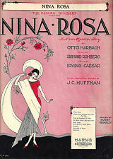 "Sigmund Romberg ""NINA ROSA"" Busby Berkeley / Otto Harbach 1929 Sheet Music"