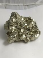 Gorgeous pyrite crystal cluster specimen, Peru 368 grams!!!  AAA fools gold!!