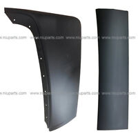 Top and Bottom Cabin Fairing Set Plastic Black - LH (Fit: Volvo VNL 2004 - 2017)