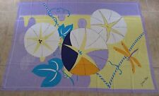 Vtg Jacques Rollet Italy c1980s Large Dragonfly/Floral Scarf/Wrap/ Sarong