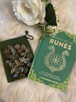 CITRINE STONE Rune Set Elder Futhark and One Blank Rune with Rune Book