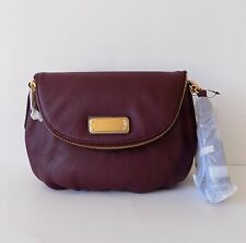 NWT Marc by Marc Jacobs New Q Natasha Leather Crossbody Bag ~Dark Wine~ M0009408