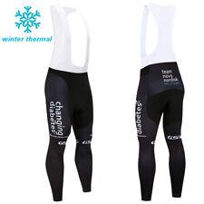 MTB Road Winter Cycling Fleece Long Bib Pants Thermal Warm Brace Tights Bike Pad
