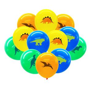 "10PCS 12"" Dinosaur Printed Latex Balloon Kids Birthday Party Decoration Loot Bag"