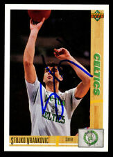Stojko Vrankovic #103 signed autograph auto 1991-92 Upper Deck Basketball Card