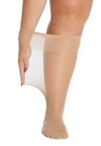 All Woman Wide Kneehigh Pop Socks XXL Soft Stretch 20-Denier Black or Natural