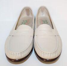 SAS Womens Loafer Shoes Size 7 M Tripad Comfort Bone Leather Moc Toe USA Made