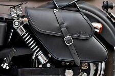 SADDLE BAGS LEFT&RIGHT SIDE FOR HARLEY DAVIDSON DYNA ENDSCUOIO ITALIAN QUALITY