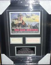 RICHARD TODD and MICHAEL REDGRAVE THE DAM BUSTERS Signed Montage AFTAL