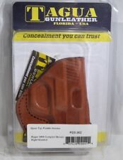 Tagua PD3-362 Paddle Holster Open Top Ruger SR9 Compact Brown Right Hand T1