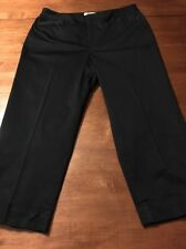 Coldwater Creek Natural Fit Navy Blue Women's Cropped Cuff Leg Pants Size 8