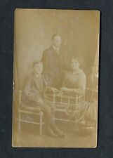 C1930's Photo Card of a Husband, Wife and Son. Taken in Homerton.