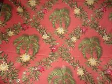 2 1/2 YARDS ALTIZER FABRIC ~ CARIBBEAN ~ TROPICAL PALMS ~ UPHOLSTERY / CURTAINS