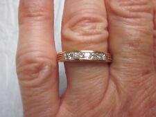 QUALITY 14K ROSE GOLD .75tcw PRINCESS Cut DIAMONDS ANNIVERSARY BAND Ring Sz 6.5