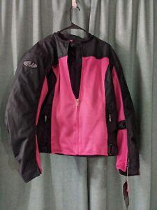 Joe Rocket Women's Velocity Jacket Size 2Diva Pink Black