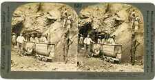 South Africa ~ DE BEERS DIAMOND MINE HOISTING SHAFT ~ Stereoview 17026 ve581c fx