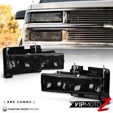 1988-1998 Chevy GMC CK Silverado Suburban Sierra Tahoe Yukon Smoke Headlight Set
