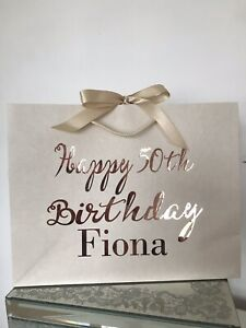 Personalised Medium or Large Gift Bag Birthday Baby Shower Get Well Any Name