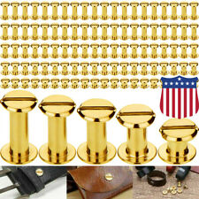 100PCS Chicago Screws Buttons Screw Posts Nail Rivet for Leather Crafting 5Sizes