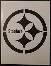 "Pittsburgh Steelers Football 8.5"" x 11"" Custom Stencil FAST FREE SHIPPING"
