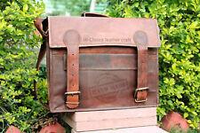 17 inch vintage Men's genuine leather messenger laptop briefcase bag