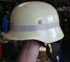 More details for genuine german fire brigade helmet m42 ww2 shape plastic by schuberth f110 (no4)