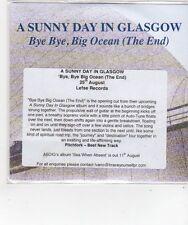 (FL642) A Sunny Day In Glasgow, Bye Bye Big Ocean (The End) - 2014 DJ CD