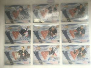 2012-13 KHL SeReal collection WEL autographs Slovan full 29 cards team set RARE