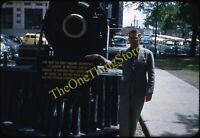 Countess Of Dufferin Steam Locomotive Train 1950s 35mm Slide Kodachrome Winnipeg