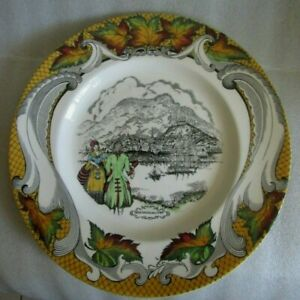 Royal Staffordshire Clarice Cliff CONFEDERATION Series Canada Montreal Plate!