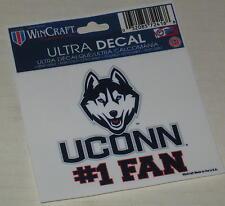 "UConn Huskies Women's Basketball ""UConn #1 Fan"" Decal 3"" x 3.75"""