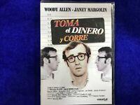 TOMA EL DINERO Y CORRE DVD WOODY ALLEN JANET MARGOLIN NUEVA PRECINTADA