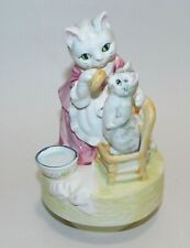 Vintage Beatrix Potter Mrs. Tabitha Twitchit Schmid Music Box