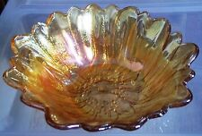 Vintage Indiana Carnival Glass Iridescent Sunflower Bowl, FREE PRIORITY SHIPPING