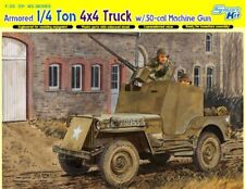 1/35 1/4 Ton 4x4 Armored Jeep w/.50cal Machine Gun Dragon 6714 Modells kits