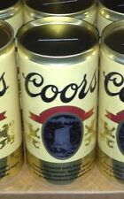 Coors Banquet Beer Can Coin Banks - Lot of 2 Man Cave Party Bar