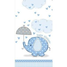 Blue Baby Boy Shower Party SWEET UMBRELLA ELEPHANT TABLECOVER TABLE COVER