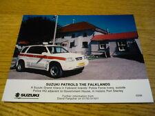 """SUZUKI GRAND VITARA POLICE CAR ORIGINAL PRESS PHOTO """" BROCHURE """"  jm"""