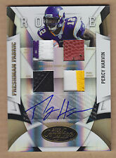 09 2009 Certified Mirror GOLD Percy Harvin 3C JSY Patch Shoe FB Auto RC #'d 1/10
