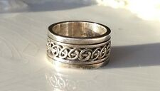 Nice GeoArt Sterling Silver 925 Spinning Spinner Ring  Band Size 5.75 10mm