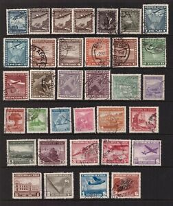 Chile 1934 - 1946 used stamps selection