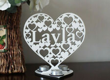 Personalised Tea Light Candle Holder with Name Word Sign Gift Present Decoration