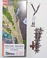 Busch 12342 Feldbahn H0f, 1 Handweiche, Länge 66,6 mm, Radius 175 mm, 22,5°, Neu