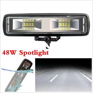 12V 1600LM 48W 16LED Work Light Spot Beam Driving Fog Lamp Bar Car SUV Off-road