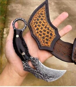 Fixed Blade Knife Knives Tool VG10 Damascus Steel Outdoor Hiking Camping Hunting