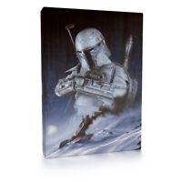 Boba Fett Star Wars Hoth 001 Framed Canvas Print